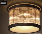 INPHIC- 美式水晶吸頂燈歐式田園布藝鐵藝花草主臥室客廳浪漫吸頂燈-G款_S197C