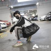 運動包-短途旅行包男pu防潑水手提旅行袋行李包獨立鞋位訓鍊包運動健身包潮