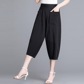 燈籠褲夏季哈倫褲薄款女褲2020新款闊腿褲寬鬆休閒高腰七分蘿卜褲 韓國時尚週