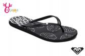 ROXY BERMUDA II 成人女款 拖鞋 品牌印花 海灘 人字拖 夾腳拖 K9483#黑色◆OSOME奧森鞋業