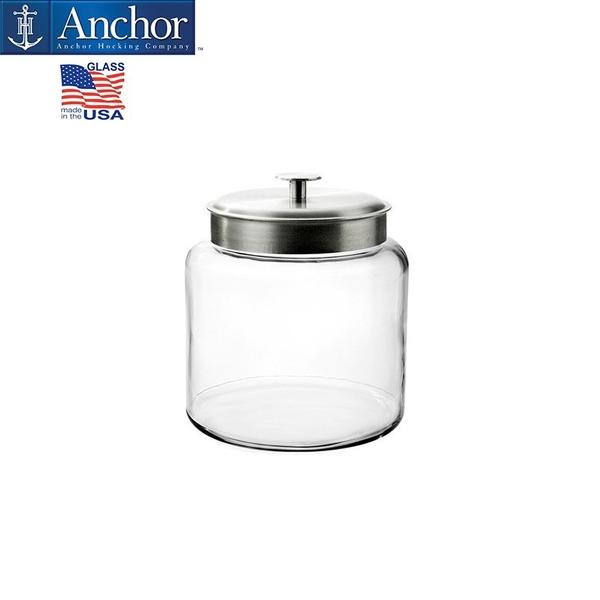Anchor美國安佳 5700cc鋁合金蓋儲物罐 玻璃罐 糖果罐 餅乾罐 飼料桶 5.7L