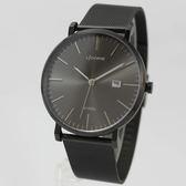 【萬年鐘錶】 LICORNE  entree  簡約經典腕錶  米蘭編織錶帶  黑色  40mm  LT056MBBI