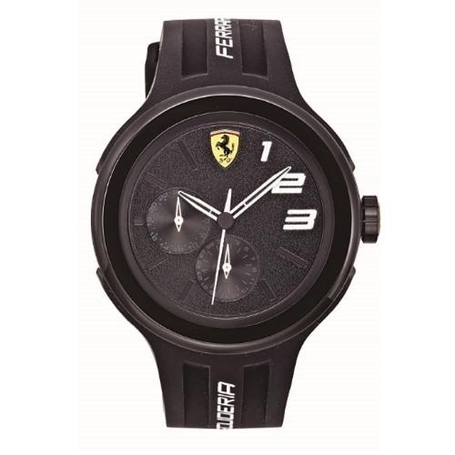 FERRARI Pit Crew速度感時尚腕錶/黑/0830225