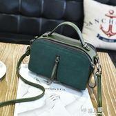 韓版潮時尚雙面復古小包包斜背包百搭簡約手提單肩包  9號潮人館