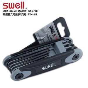 【SWELL】T9-T40 星型黑摺疊六角扳手8支組 093-06TO