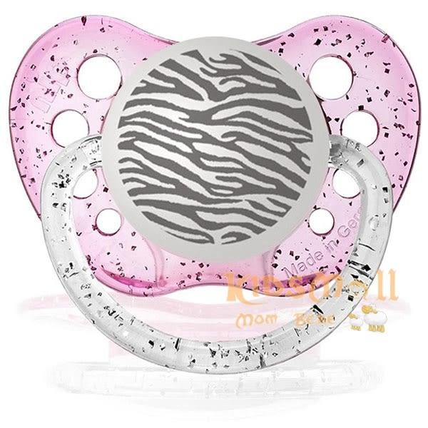 美國 Ulubulu ,個性化造型安撫奶嘴,德國製Zebra-Pink