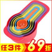 彩虹量匙6件套 廚房彩色量勺烘焙工具【AP02044】聖誕節交換禮物 99愛買生活百貨