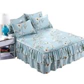 純棉床裙式單件床罩床單床笠單件床裙三件套床套1.5米1.8米2m床