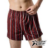 PolarStar 男 格紋排汗四角內褲   排汗/抗菌/ 彈性 P14333 黑紅