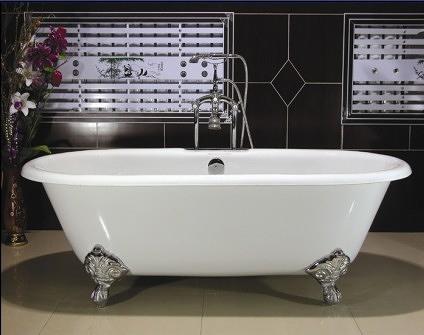 【麗室衛浴】BATHTUB WORLD H-524 高級獨立式鑄鐵浴缸 長167*寬76*高58