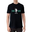 US Polo - 馬球全棉寬鬆短袖印花T衫(黑)