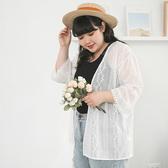 《AB11936》透膚花朵刺繡雪紡防曬罩衫外套 OrangeBear