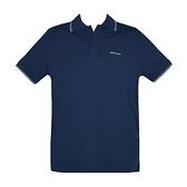 【南紡購物中心】ARMANI JEANS 經典刺繡LOGO滾邊短袖POLO衫-深藍