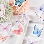 【BlueCat】蝶夢山野 盒裝貼紙 手帳貼紙 (46枚入) 貼紙