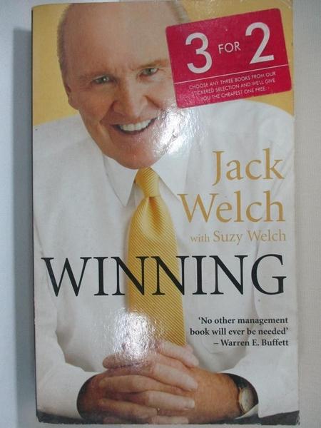 【書寶二手書T4/傳記_HHZ】Winning: The Ultimate Business How-To Book_Jack Welch, Suzy Welch