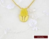 9999純金 黃金 黃金花朵 吊墜 墜飾 墜子 情人節 生日禮 送精緻皮繩項鍊