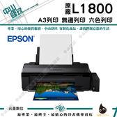 EPSON L1800  A3原廠連續供墨印表機 【可加購墨水登入送保固】