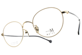 MA-JI MASATOMO 光學眼鏡 PMJ047 C01 (金-黑) 復古沉穩風格款 β鈦眼鏡 # 金橘眼鏡