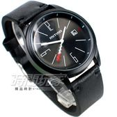 Mitina 中性時尚 日期顯示 個性錶 防水手錶 男錶 女錶 中性錶 學生錶 都適宜 MIT306IP黑