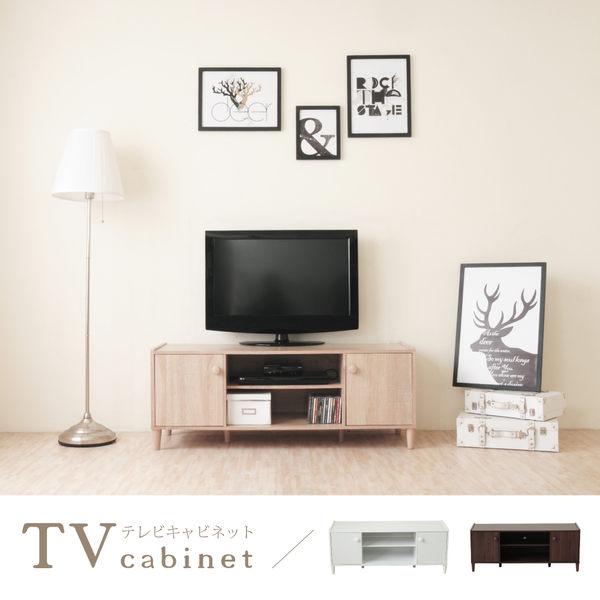 《Hopma》和風原木系二門電視櫃-二色可選