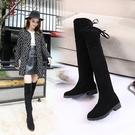 靴子 2021春季新款韓版過膝靴長靴彈力瘦瘦靴女長筒靴高筒平底靴子潮【快速出貨八折搶購】