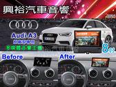 【專車專款】2013~2015年 AUDI A3 專用8吋觸控螢幕多媒體主機