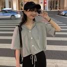 連帽短袖t恤女半袖2021年夏季新款韓版寬鬆高腰短款露臍上衣ins潮 【端午節特惠】