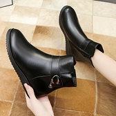 大碼馬丁靴 保暖媽媽棉鞋女冬加絨短靴厚底防滑羊毛皮鞋中老年女鞋41一43 3C數位百貨