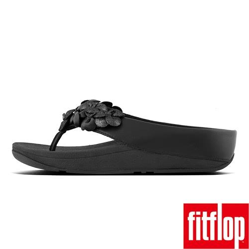 【FitFlop TM】RINGER FLOWER TM TOE THONG(黑色)