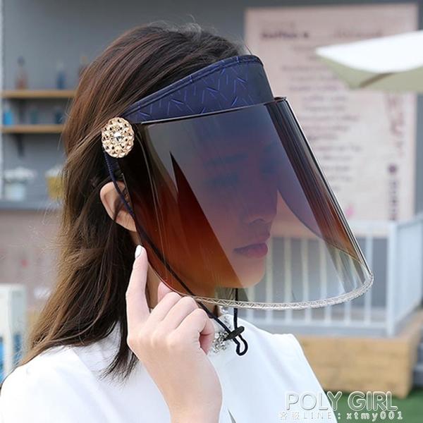 夏季騎車遮陽帽夏天防紫外線女士太陽帽騎電動車防曬時尚帽子空頂 夏季狂歡