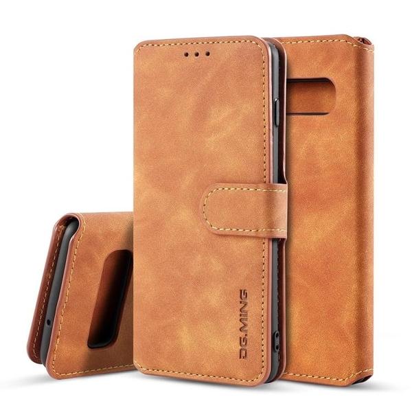 三星 S10 S10 Plus S10e S10 5G 復古皮革帶卡槽錢包款手機套 翻蓋手機殼