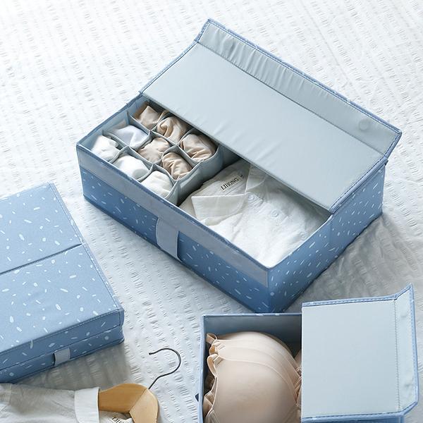 日系風格布藝襪子內衣收納箱  衣物收納 襪子收納 雜物收納_半島良品