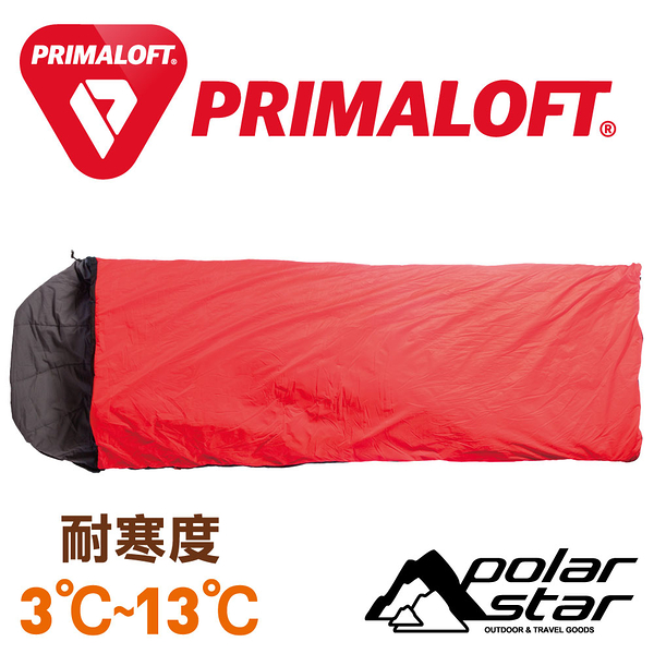 PolarStar Primaloft 超輕保暖睡袋 (填充430g / 總重1.05kg) 台灣製 MIT『紅』戶外 登山 露營 P16798