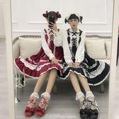綿羊泡芙Lolita原創拇指姑娘娃娃圓頭格子蝴蝶結低跟單鞋 艾莎嚴選