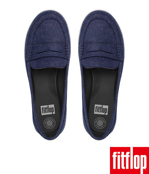 FitFlop TM-F-SPORTY TM PENNY LOAFERS-FELT-深藍