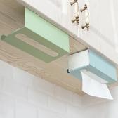 廚房紙巾架免打孔鐵藝用紙架面紙盒