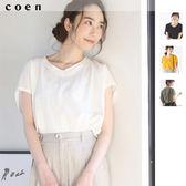 女T恤 V領上衣 棉質 現貨 免運費 日本品牌【coen】