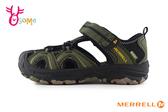 MERRELL HYDRO 成人女款 中大童 涼鞋 護趾 耐磨 防水 水陸兩棲 運動涼鞋 I6994#黑綠◆OSOME奧森鞋業