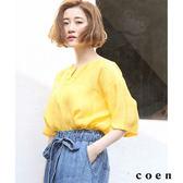 復古緞面襯衫【coen】