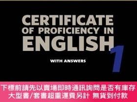 二手書博民逛書店Cambridge罕見Certificate Of Proficiency In English 1 Studen