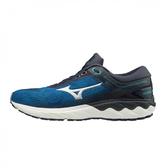 Mizuno Wave Skyrise [J1GC200903] 男鞋 運動 休閒 慢跑 避震 彈力 穿搭 美津濃 藍銀