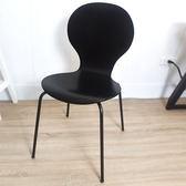 凱堡 工業風黑木餐椅洽談椅【P09024】