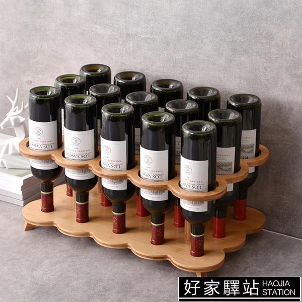 歐式紅酒架紅酒杯架家用葡萄酒架格子創意放酒瓶酒柜擺件收納酒架