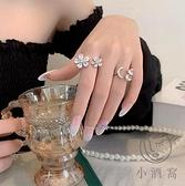 時尚個性女指環開口花朵戒指女可調節【小酒窝服饰】