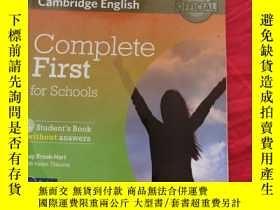 二手書博民逛書店Complete罕見First for Schools Student s Book without Answer