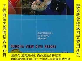 二手書博民逛書店Adventures罕見in Diving Manual 潛水指