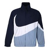 NIKE AS M NSW HBR JKT WVN STMT 男款大勾藍色拼接淺藍色透氣外套-NO.AR3133451