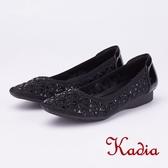 kadia.奢華自信水鑽沖孔包鞋(9054-95黑色)
