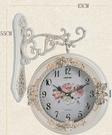 歐式田園簡約雙面掛鐘客廳時尚靜音雙面掛表現代創意裝飾時鐘