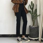 褲子2018女裝學生秋季韓版牛仔褲百搭彈力腳口漸變直筒褲小腳長褲  百搭潮品